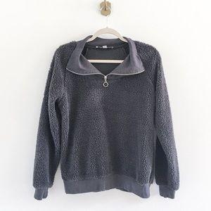 Gypsies & Moondust Sherpa Fuzzy Half Zip Pullover